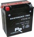MC-batteri AGM 14 Ah YTX16-BS1 Extreme Poweroad SP6