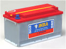 Rörcellsbatteri truckbatteri NBA 12V 76Ah/5h,100Ah/20h  4LT12N. Hela 1200 cykler