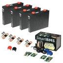 Lithium-Ion batteri(LiFePO4) 12V/300Ah. Komplett kit med Bluetooth övervakning!
